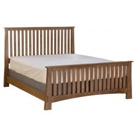 Copper Creek Slat Bed - Tall Footboard