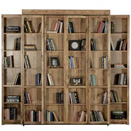 Bi-Fold Bookcase Wall Bed